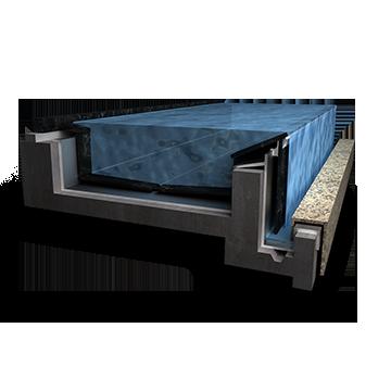 無邊際鏡面水池施工及防水